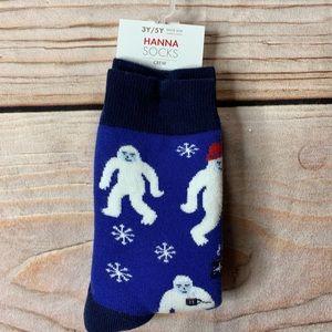 NWT Hanna Andersson Yeti Socks 3-5